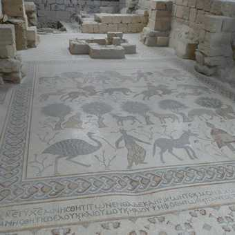 Mosaic floor at Mount Nebo