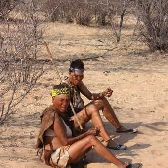 Smoking break - Khoisan women, Kalahari