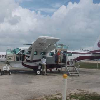 Getting ready to fly into Belize city