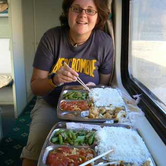 Lunch on the train, it's not all for me!