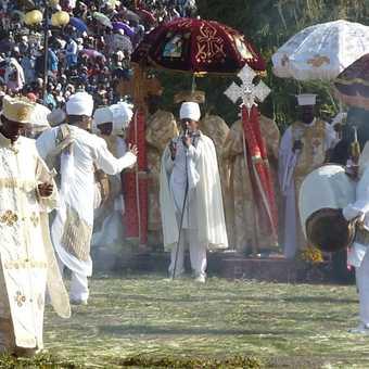 Priests at the Meskel Festival
