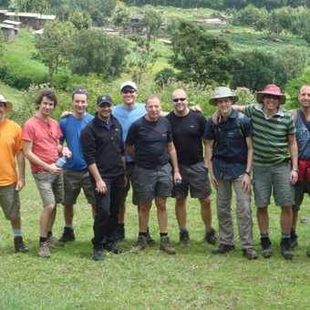 Our group at the start of Rongai. Will we be smiling in 6 days time?