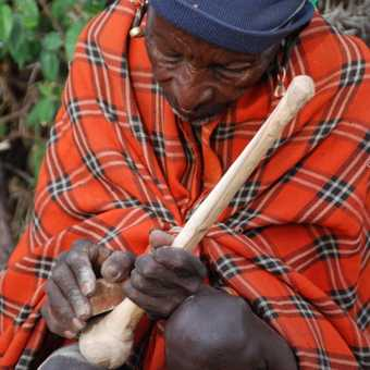 Masai craftsman