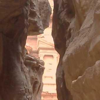 Treasury in Petra from the siq