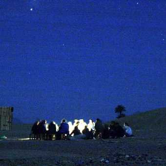 Camping out under the stars in the Sahara Desert at the Bedouin camp