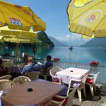Coffee stop by Lake Brienz