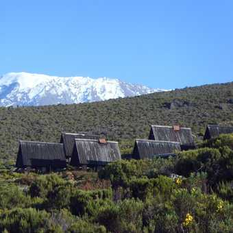 Final camp looking back to Kili