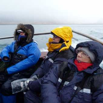 Trio of Exodus enthusiasts on the boat