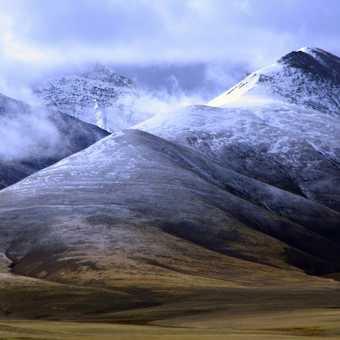 Mountains behind Nam Tso Tibet