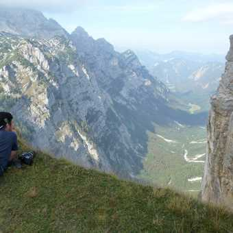 Day 5 - Olly looking down into the Krma Valley