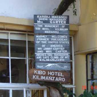 Front of Kibo Hotel
