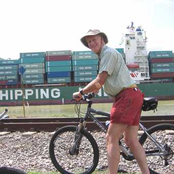 Me and a very big ship