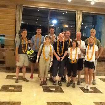 Group photo in hotel in Udaiper
