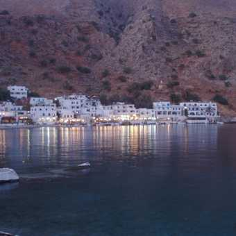 Loutro at night