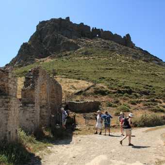 Castello Rosso from aqueduct