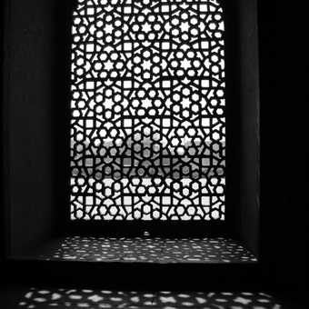 Window from inside Humayun's Tomb in Delhi