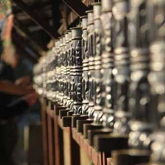 Prayer Wheels at Thyangboche