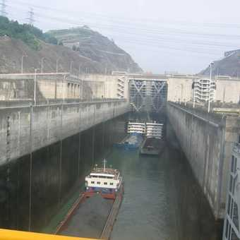 Yangtze Three Gorges Dam Canal Lock