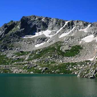 Lac De Bastani in front of Monte Renosu