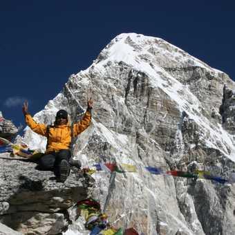 Our wonderful group leader Krishna on top of Kala Pattar