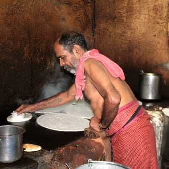 Cooking supper in Madurai