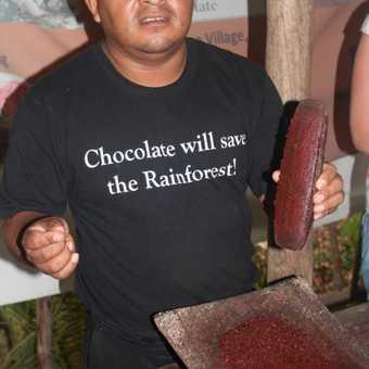 Making chocolate at Punta Gorda