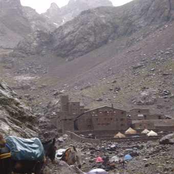 Toubkal base camp.