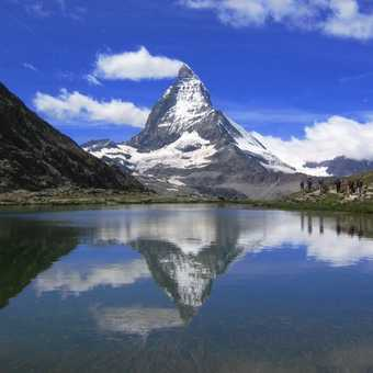 Breithorn to the left, Matterhorn to the right.