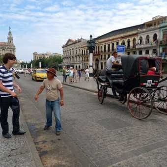 Outside the Capital building, Havana