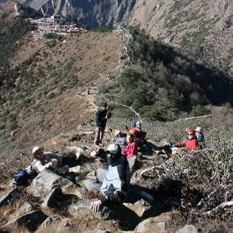 Acclimatization climb in Thyangboche