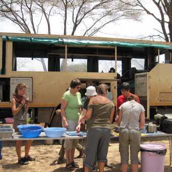 Preparing lunch in the serengeti