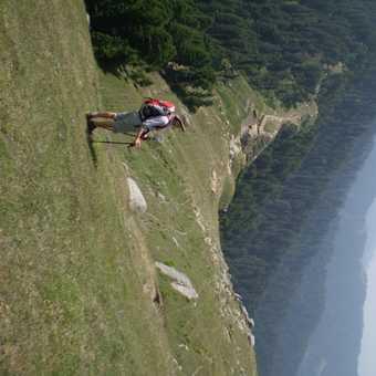 trekking on a ridge