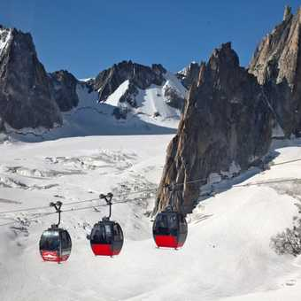 Cable car loop of the three valleys