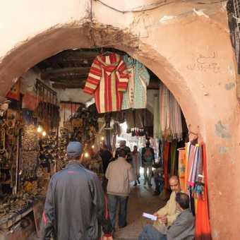 The souk in Marrakech.