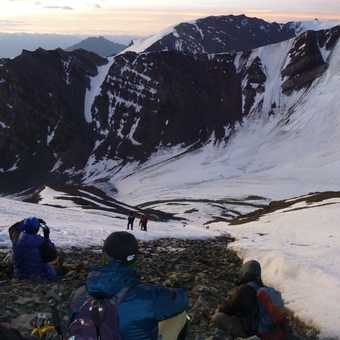Summit day: sunrise on the glacier