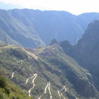 First view down to Macchu Picchu