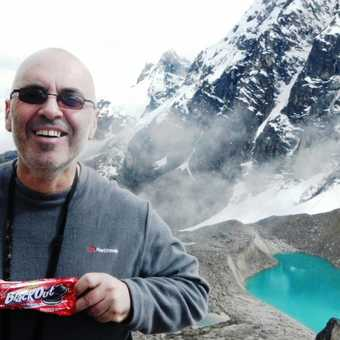 Me having a Black Out at the top of Chiriasqa Pass . . . 5,000 metres above sea level.