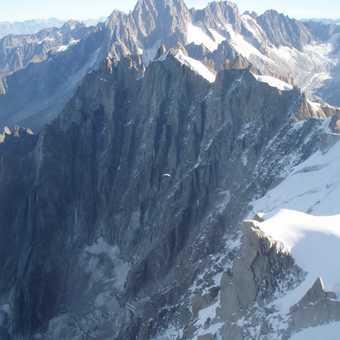 Paragliding off Aiguille du Midi