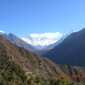 First view of Everest