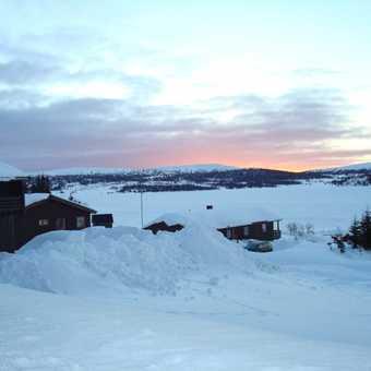 Sunset from Sjusjoen Fjellheimen