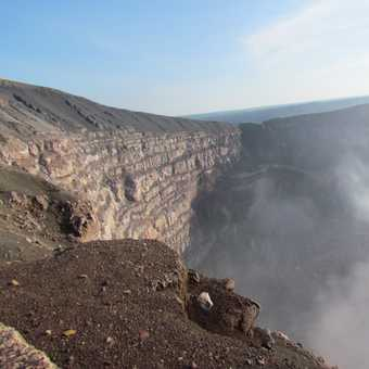 view into volcano