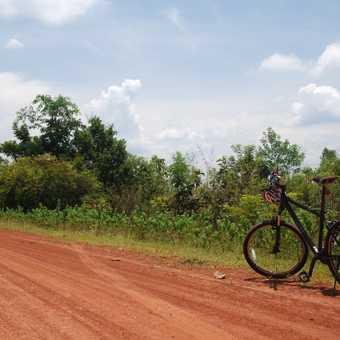 Bike on dusty road