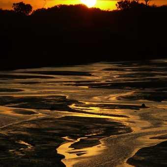 Samburu River sunset