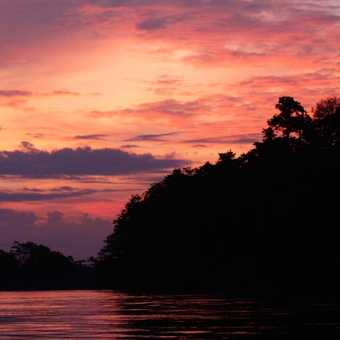 Sunset on kinabatangan river