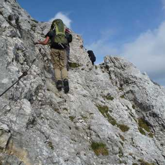 Day 5 - Last section of Via Ferrata on our walk