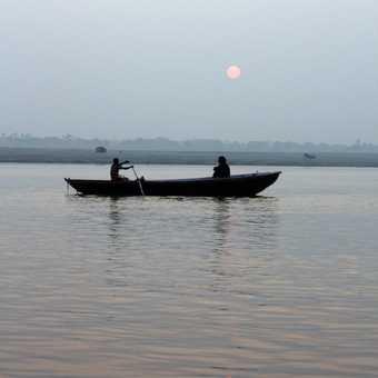 Morning boat trip on the Ganges in Varanasi