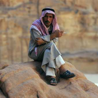 Bedouin at Wadi Rum campsite