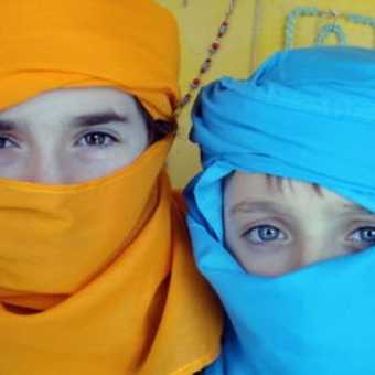 Lili & Freddy ready for the desert trek