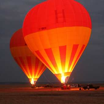 ready for pre-dawn lift-off on the Mara