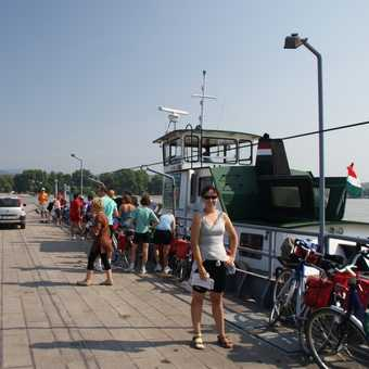 Getting the ferry across the Danube